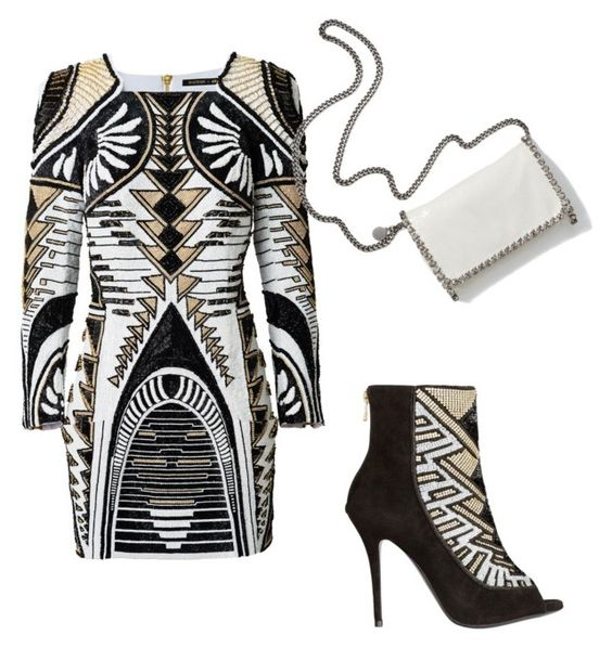 """Untitled #172"" by sandovallorena ❤ liked on Polyvore featuring Balmain and STELLA McCARTNEY"