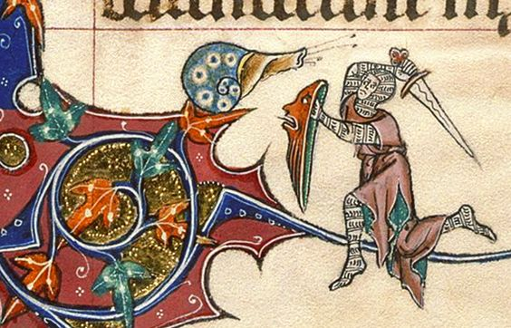 This thing with the unexplained motif of knights fighting snails (and often losing to them) in medieval manuscripts is just one of the best ...: