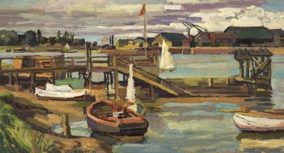 The Harbour, King's Lynn, Norfolk, Duncan Grant (1885–1978), Tameside Museums and Galleries Service: The Astley Cheetham Art Collection