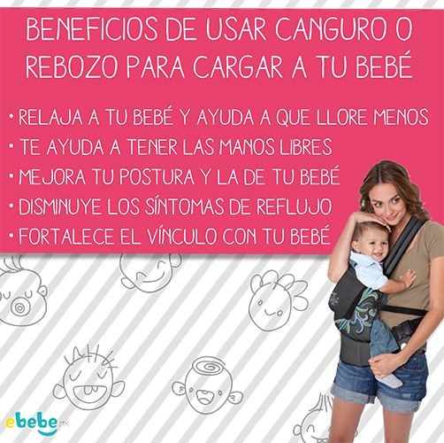 Beneficios para tu bebé y para ti #canguro #rebozo #cargar Da clic en la foto