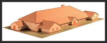 Bancroft Roman Villa free papercraft download