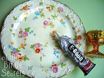 how to - upcycled cake stand
