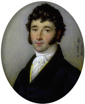 Very handsome gentleman rocking the sideburns ca. 1819