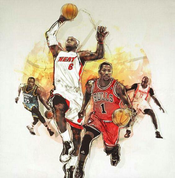 Drawings Of Nba Basketball Players | Free
