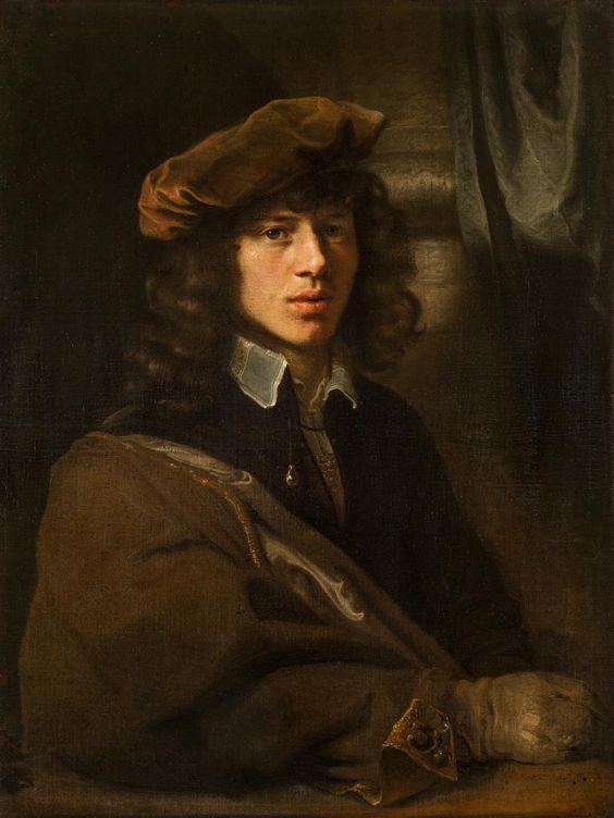 Рембрандт Харменс.  ван Рейн (мастерская) Голландский 1606-69 Портрет молодого человека в беретом (1640) Холст, масло 83,5 х 66,0 см Государственный Эрмитаж, Санкт-Петербург, приобретенным до 1797 года (Inv нет ГЭ-761..):