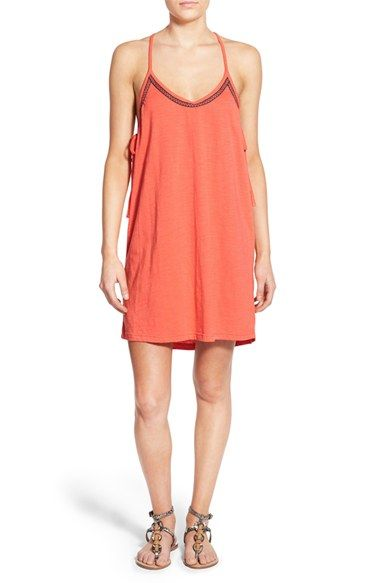 Roxy 'Seacliff' Side Tie Shift Dress
