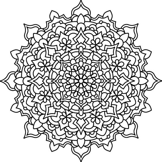 Hindu Mandalas To Color