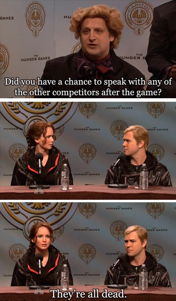 Saturday Night Live does The Hunger Games with Jennifer Lawrence appearing as Katniss Everdeen. #awkward