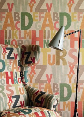 Rainbow Letters wallpaper from Linwood: