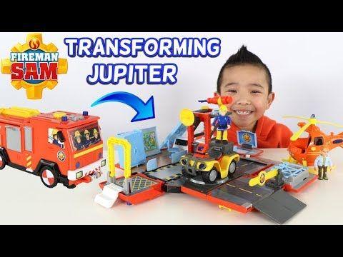 Fireman Sam Transforming Jupiter Fire Engine And Fire Station Ckn Toys Youtube Fireman Sam Fireman Fireman Sam Toys
