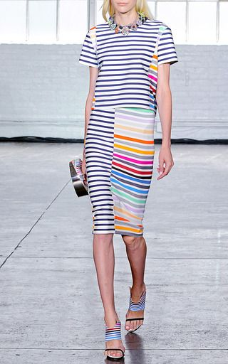 Peggy Rainbow Stripe Skirt by TANYA TAYLOR for Preorder on Moda Operandi: