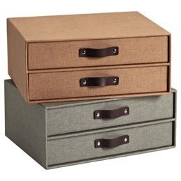 Bedford Two-Drawer Paper Organizer   Pottery Barn