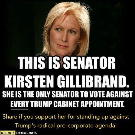Donald Trump: Not My President!  Way to go Kirsten!