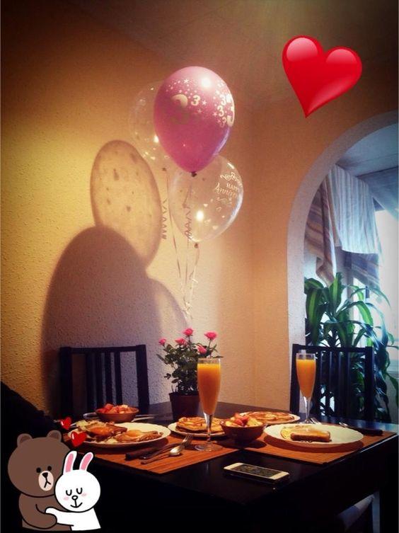 Desayuno sorpresa a lo americano 15o1 aniversario love - Sorpresas romanticas para tu novio ...