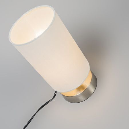 Lámpara de mesa MILO 2 redonda blanca