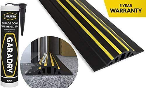 Garadry 1 High Garage Door Threshold Seal Kit 10 3 Black Yellow Vinyl Complete Kit In Garage Door Threshold Seal Garage Door Threshold Garage Doors