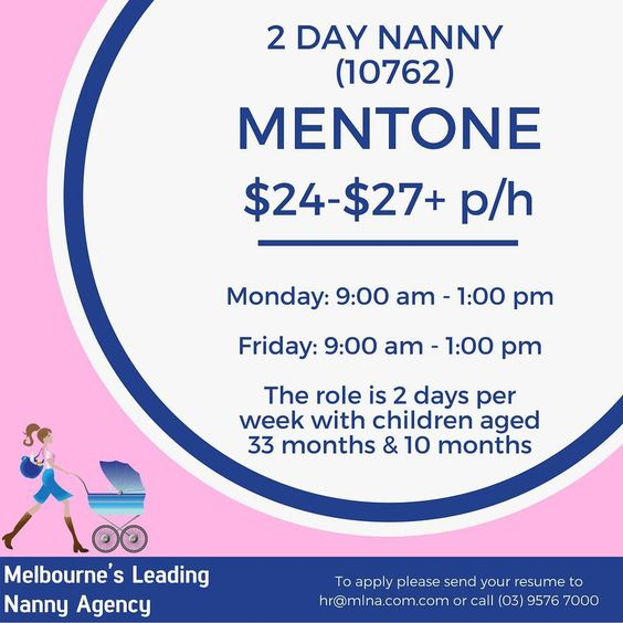 Melbourne\u0027s Leading Nanny Agency has an exciting role for an - nanny skills resume