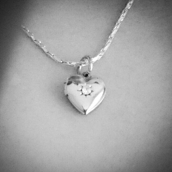 Tiny Heart Locket Necklace ♥ www.emmacleverleydesigns.co.uk x