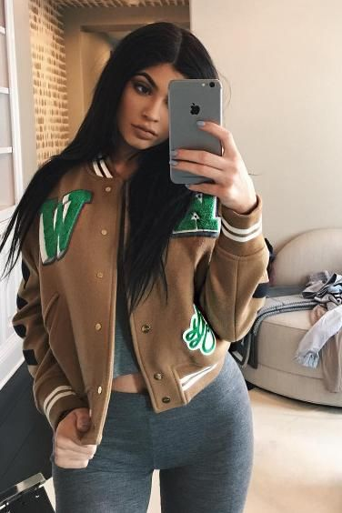 Kylie Jenner wearing Hermes Kelly Doll Bag