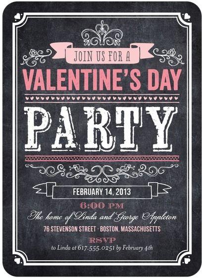 Valentineu0027s Day Party Invitations - Bold Blackboard by Tiny Prints - valentines day invitations