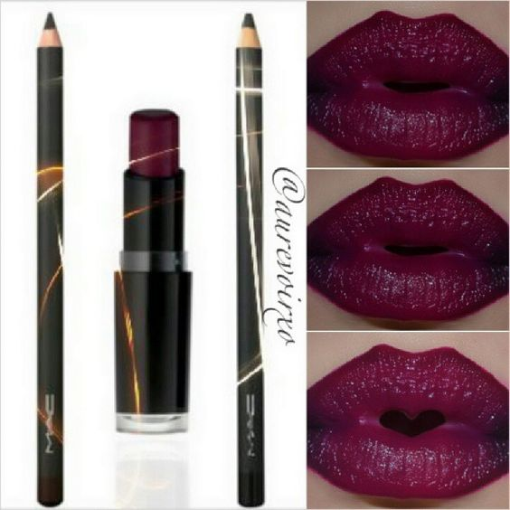 Vampy Lips ...Lip Liner: Mac - Nightmoth, filled in the edges with ...