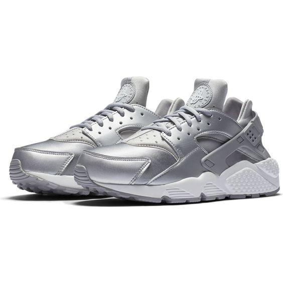 nike huarache air silver sneakers women sporty www.