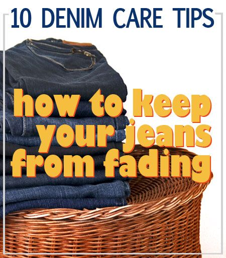 Tips how to keep your jeans from fading