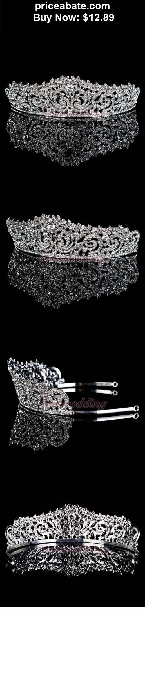 Bridal-Accessories: Elegant Crystal Tiara Wedding Bridal Floret Diamante Crown Headband Hair Jewelry - BUY IT NOW ONLY $12.89