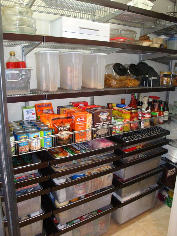 Love The Elfa Drawers And Adjustable Shelves In My Pantry