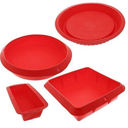 Bakeware Set Baking Molds 4 Nonstick Silicone Bakeware Set