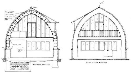 How to build cruck frame ribs for a 2 story house google for Cruck frame house plans