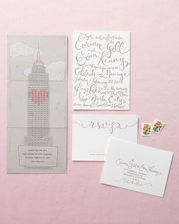 Adorable wedding stationery