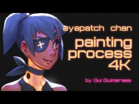 Eyepatch Chan Digital Painting By Gui Guimaraes Moonlightorange 4k Manga Anime Youtube Digital Painting Girl Sketch Painting