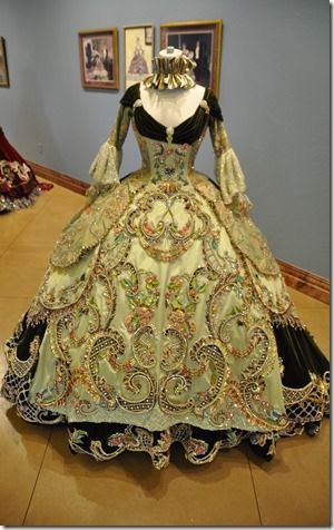 18th Century period inspired Ball Gowns designed by Linda Leyendocker Gutierrez and Niti Volpe for the Society of Martha Washington Colonial Pageant and Ball in Laredo, Texas They are generally worn by 17 year old girls.