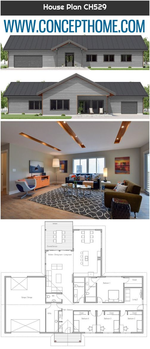House Plan Ch529 House Plans How To Plan House