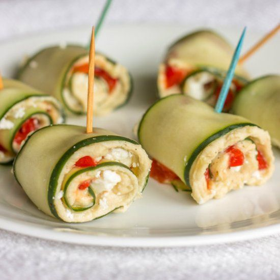 Cucumber roll ups, Cucumber rolls and Roll ups on Pinterest