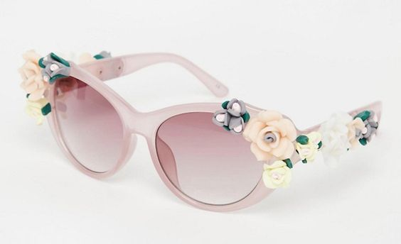 Pin for Later: Shield the Sun in Style With These Statement Sunglasses  Jeepers Peepers Novelty Flower Cat Eye Sunglasses (£24)