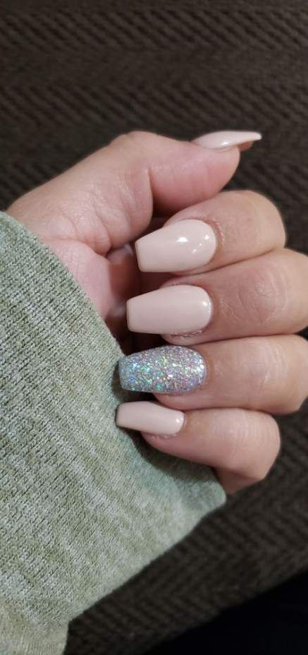 Fails Design Glitter Pink Ring Finger 59 Ideas For 2019 Simple Acrylic Nails Best Acrylic Nails Graduation Nails
