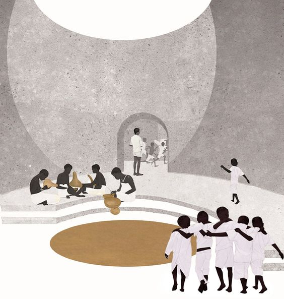 Concept project of rural school in Africa, Sol89 - BETA