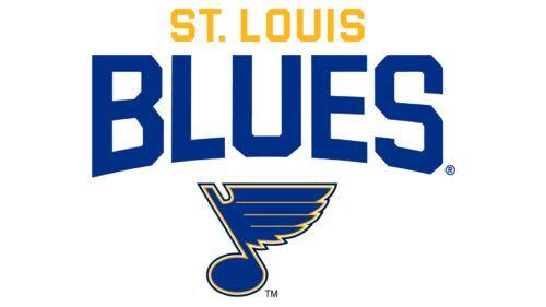 The First Blues Logo Which St Louis Blues Logo Logos Blues