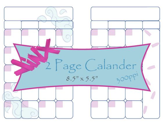 Jinx Inspired Planner Pages Monthly Calendar Planners, Planner - sample budget calendar