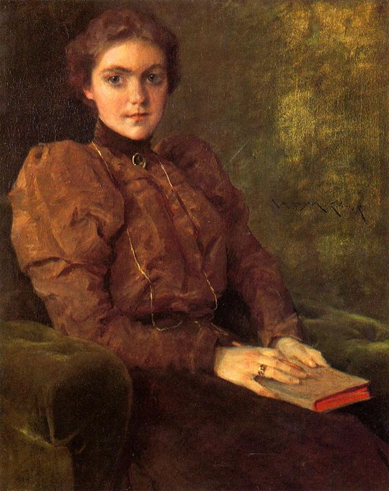 A Lady in Brown   William Merritt Chase   oil painting