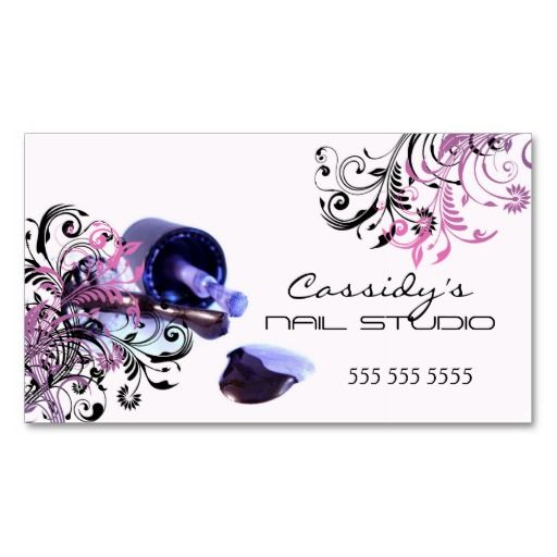 Nail technician beauty salon business cards business for Nails business cards design