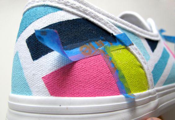 + de 28 Ideias lindas para customizar aquele velho tênis + Tutoriais e vídeos