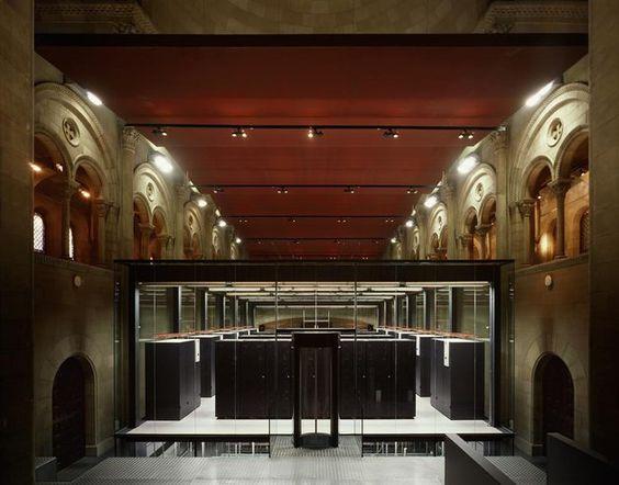 Supercomputer in former chapel in Barcelona - Barcelona Supercomputing Center located in a former chapel Torre Girona.