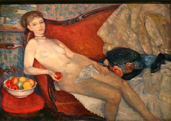 William Glackens, Nude with Apple
