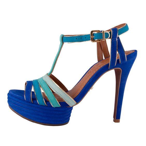 Sandália Degradê Azul #Carrano $135 www.twistedmode.com.br #twistedmode