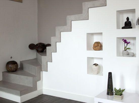 escalier b ton cir haussmannien chic pinterest. Black Bedroom Furniture Sets. Home Design Ideas
