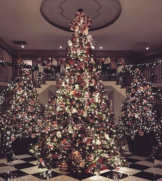 Why have one Christmas tree when you can have three? This is what Candy Cane Lane looks like in Kris Jenner's house!