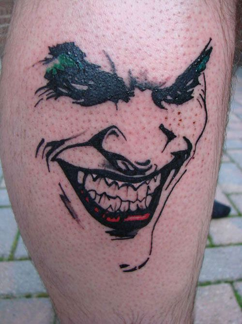 Distinctive Joker Tattoo